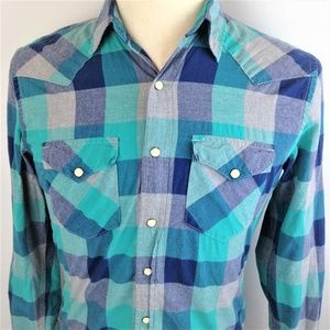 American Eagle Outfitters Mens Blue Shirt S/P